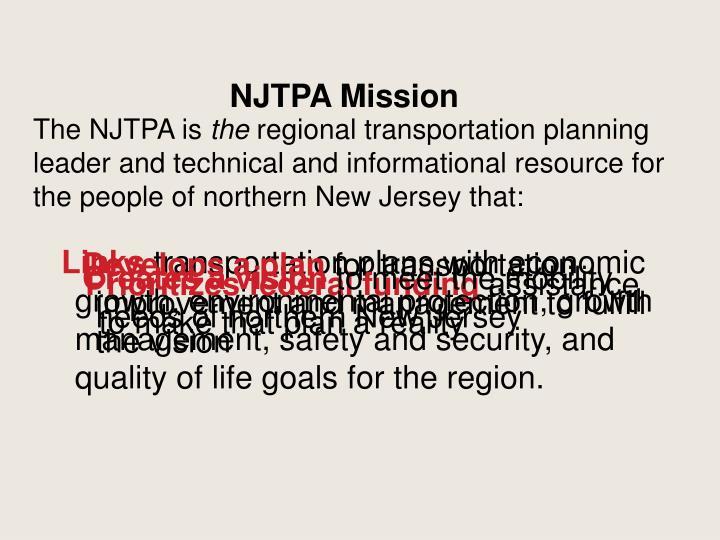 NJTPA Mission
