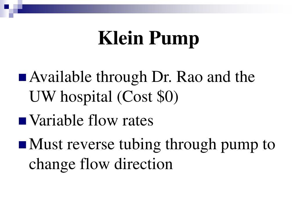 Klein Pump