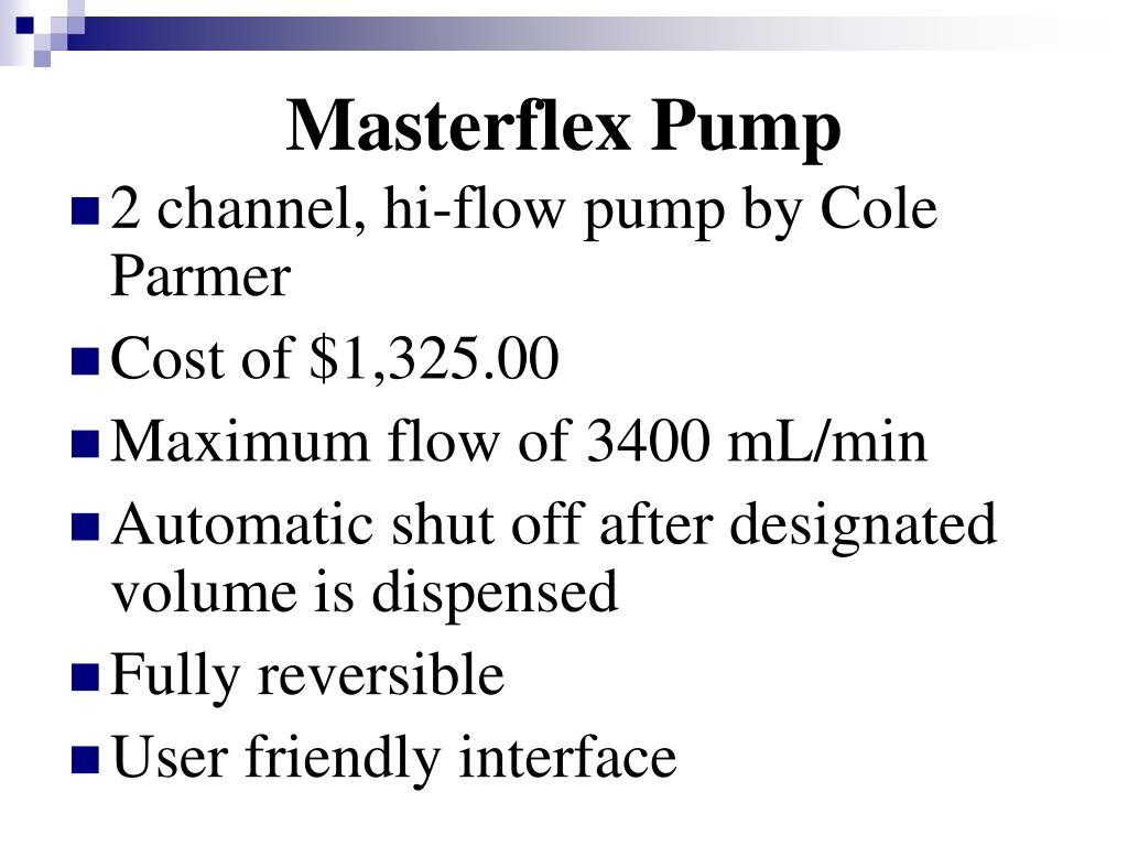 Masterflex Pump