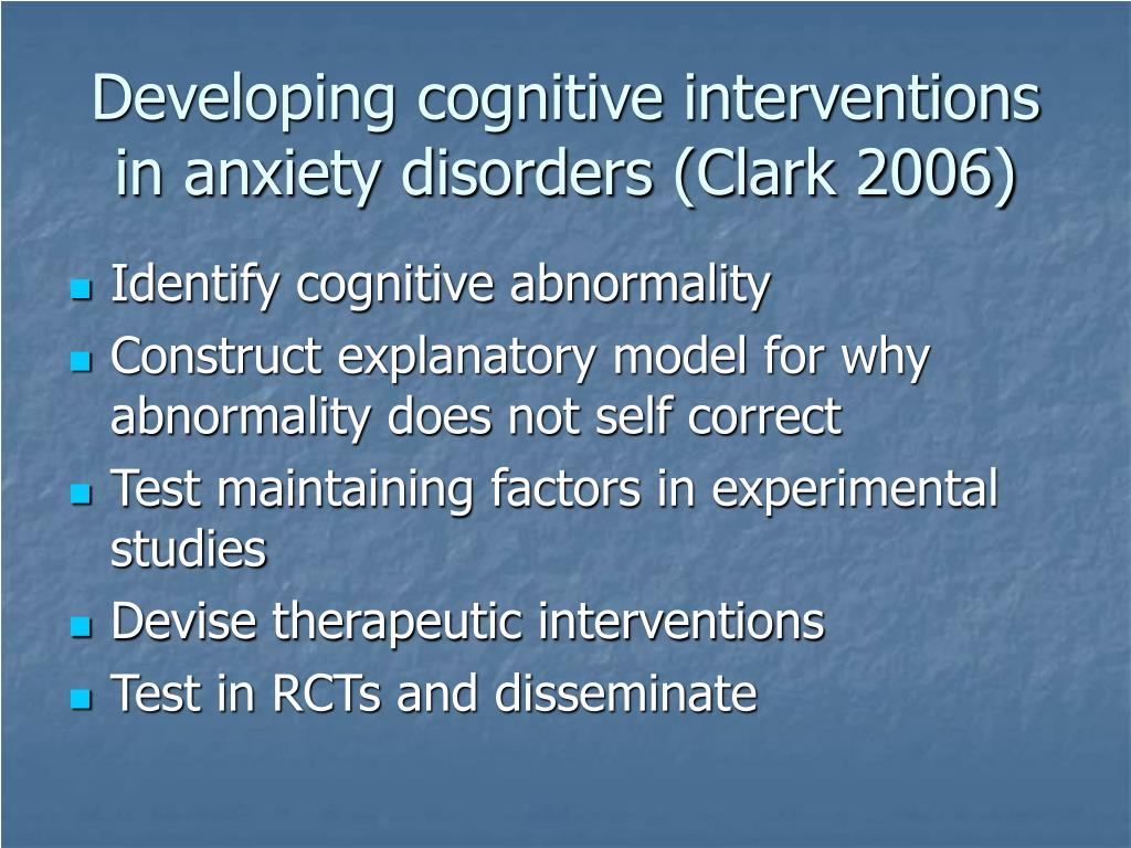 Developing cognitive interventions