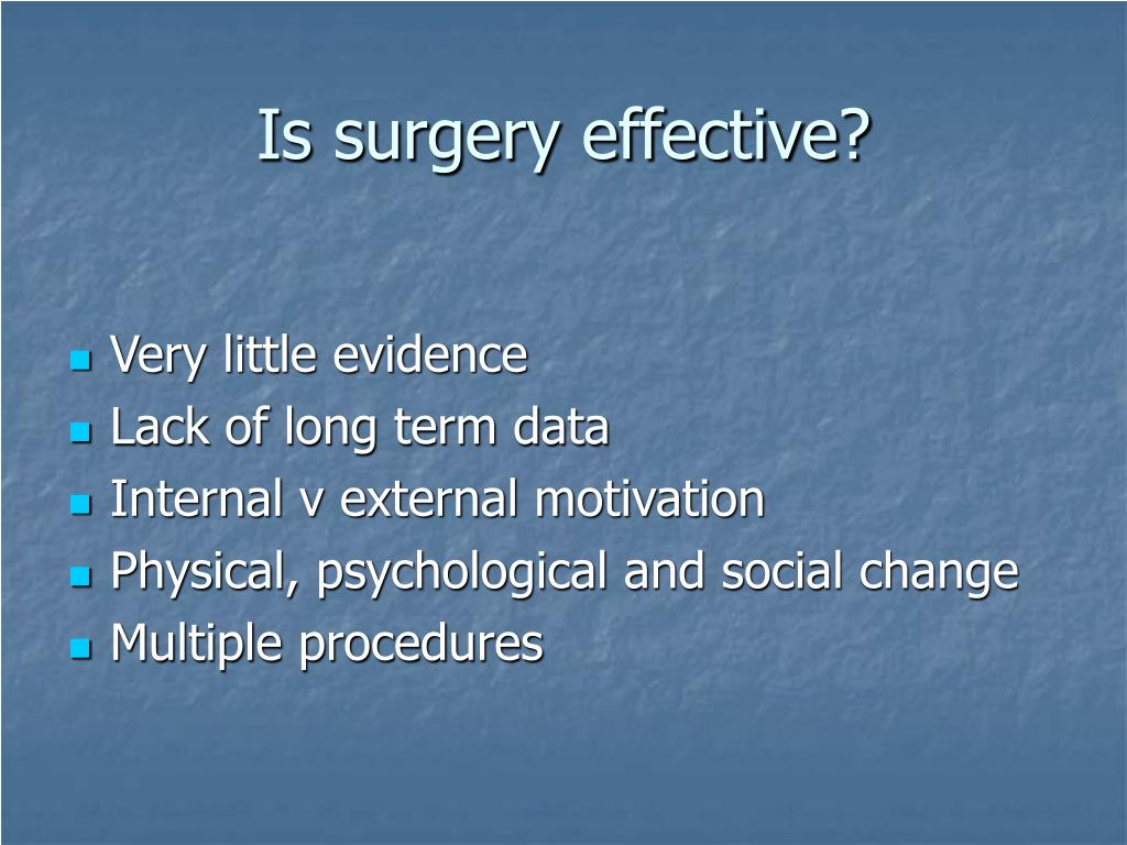 Is surgery effective?