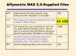 affymetrix mas 5 0 supplied files