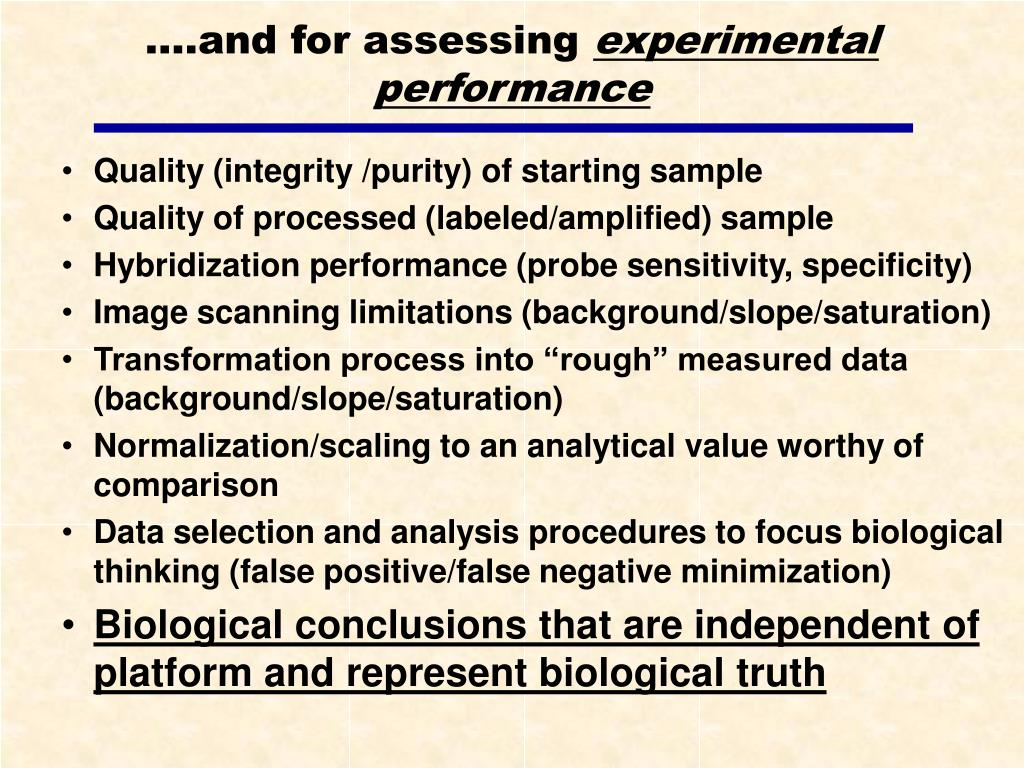 ….and for assessing