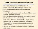 cder guidance recommendations