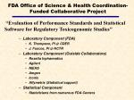 fda office of science health coordination funded collaborative project11