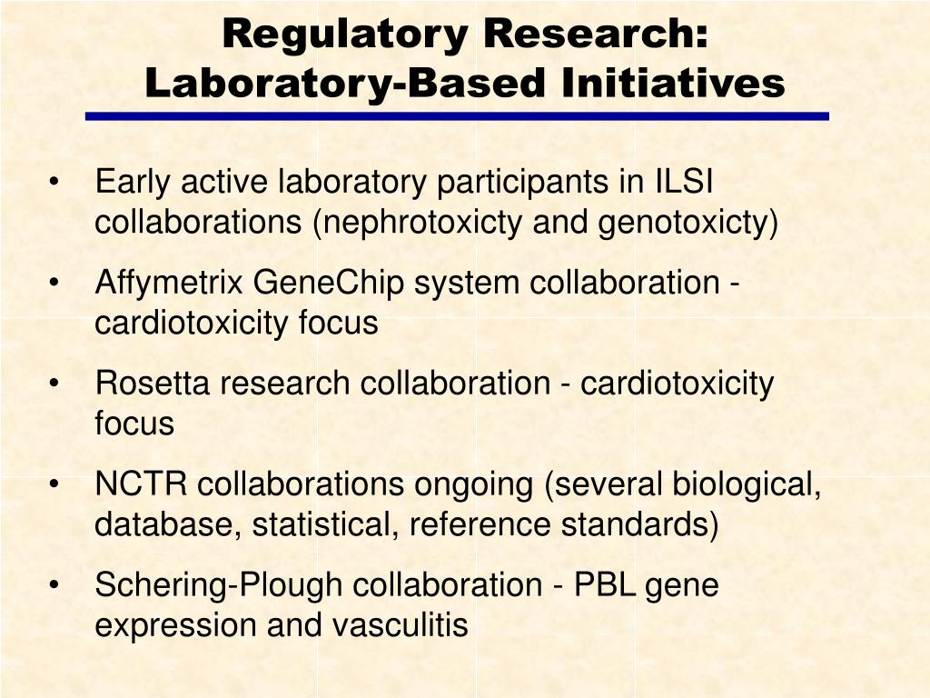 Regulatory Research: