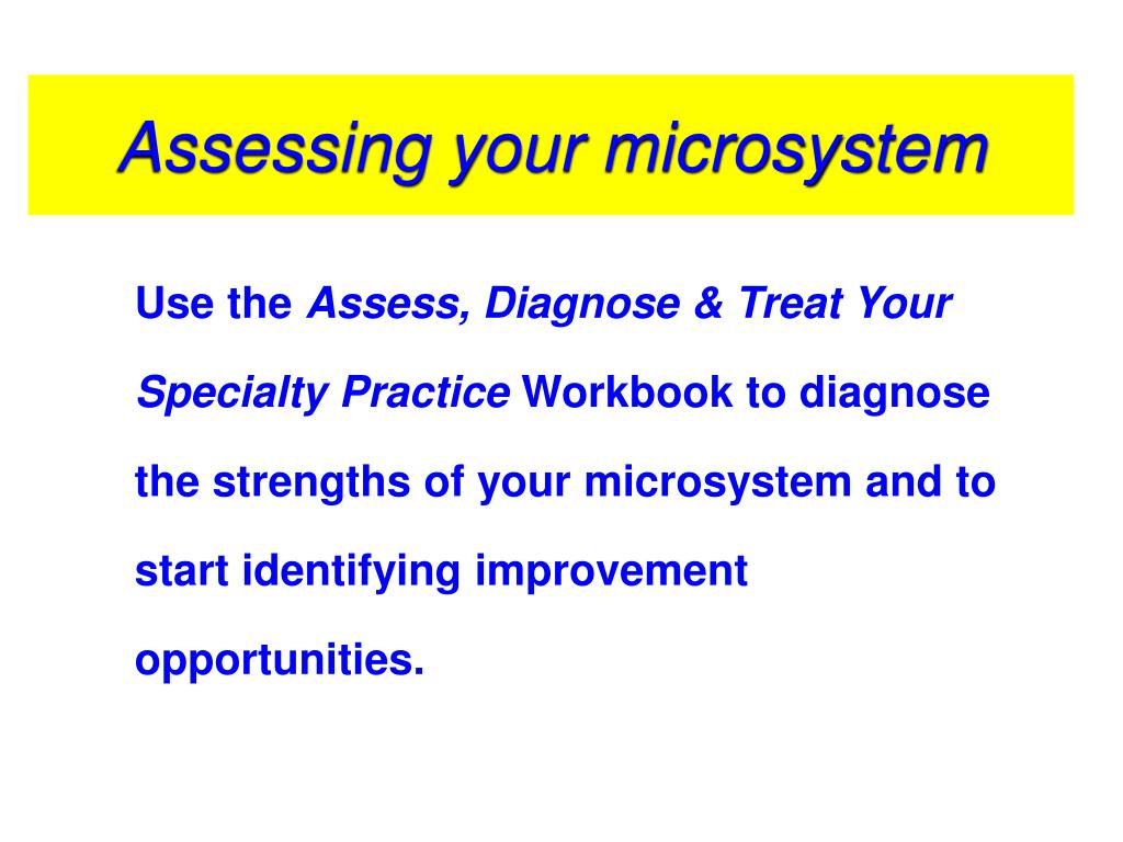 Assessing your microsystem