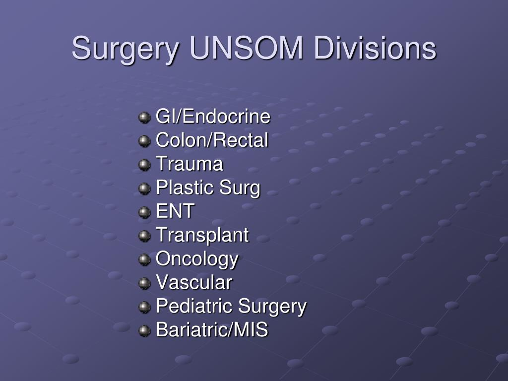 Surgery UNSOM Divisions