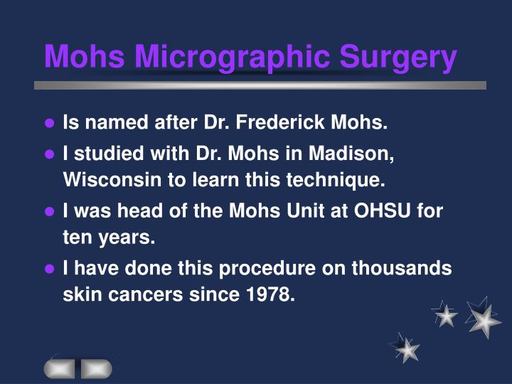 Mohs micrographic surgery2