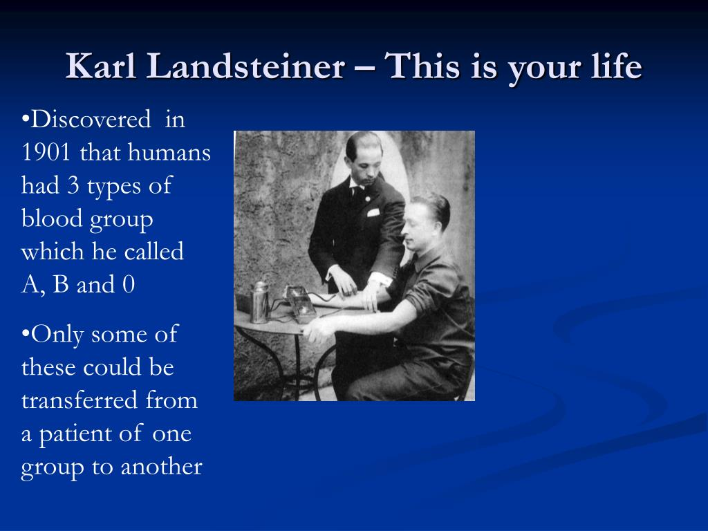 Karl Landsteiner – This is your life