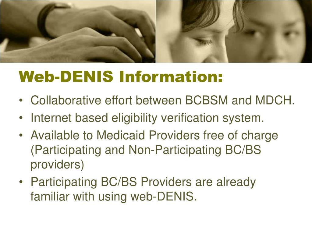 Web-DENIS Information: