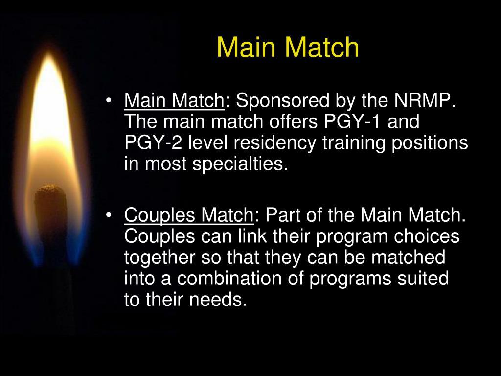 Main Match