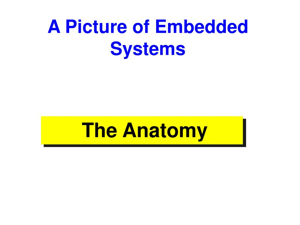 A Picture of Embedded