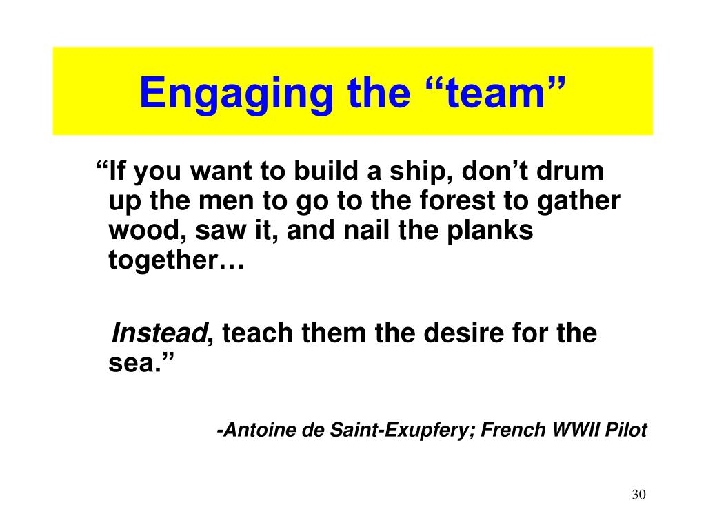 "Engaging the ""team"""