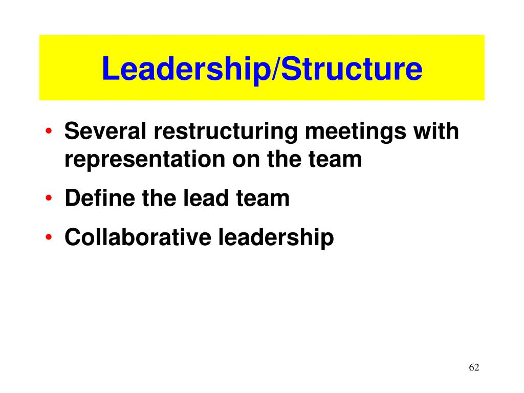 Leadership/Structure