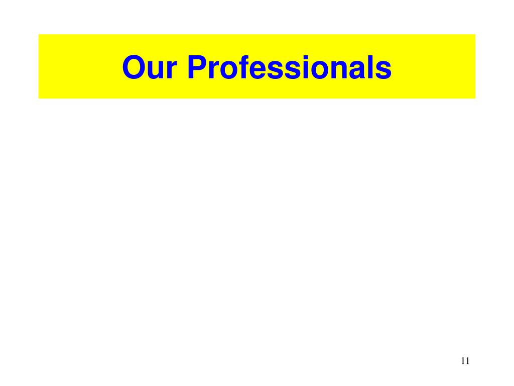 Our Professionals