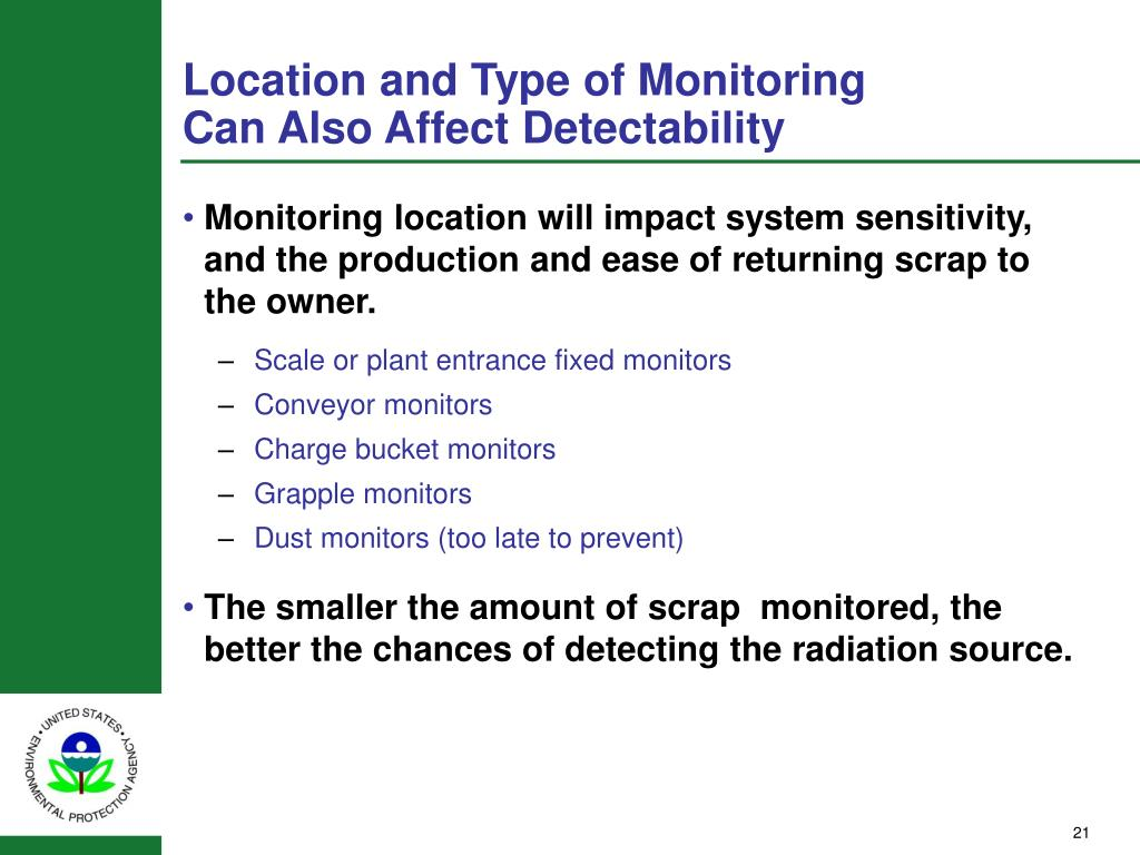 Location and Type of Monitoring