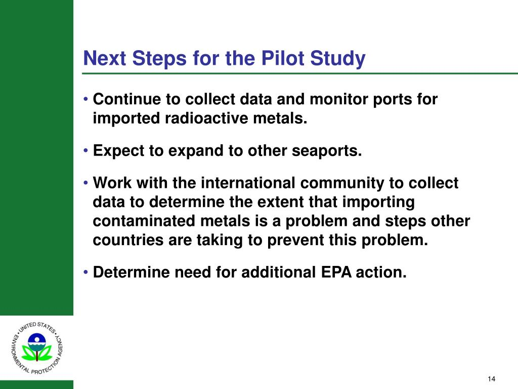 Next Steps for the Pilot Study
