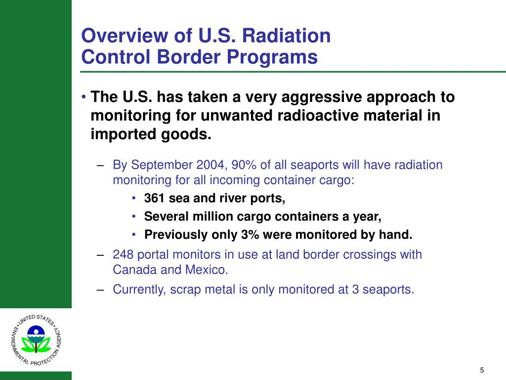 Overview of U.S. Radiation