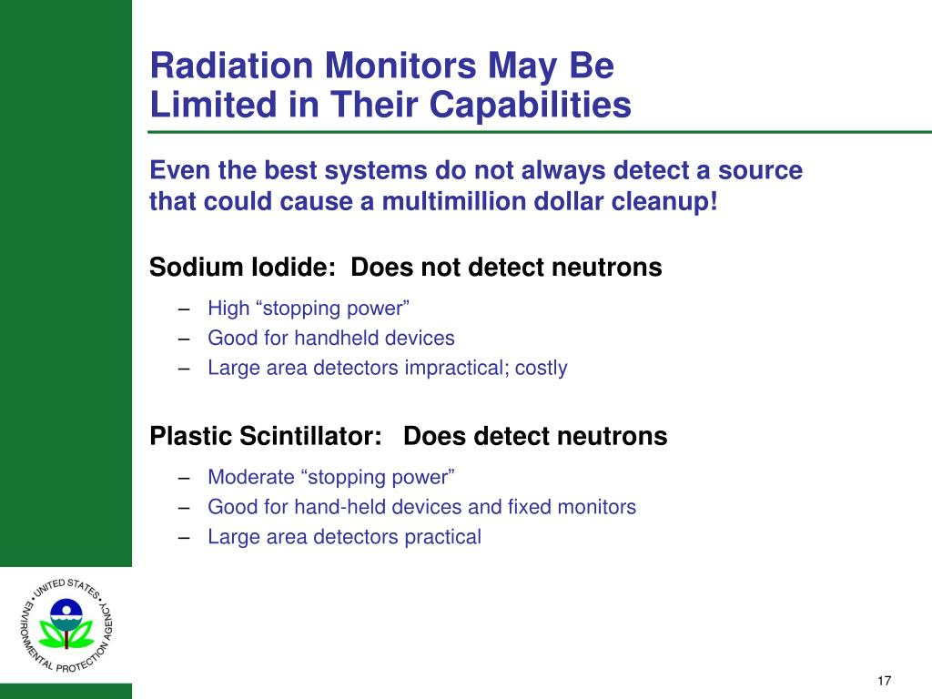 Radiation Monitors May Be