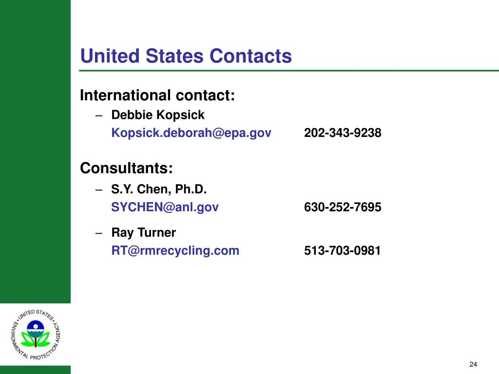 United States Contacts