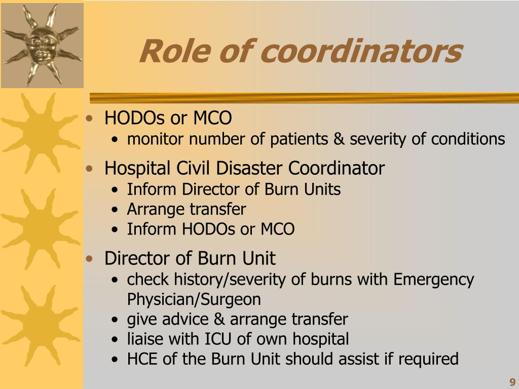 Role of coordinators