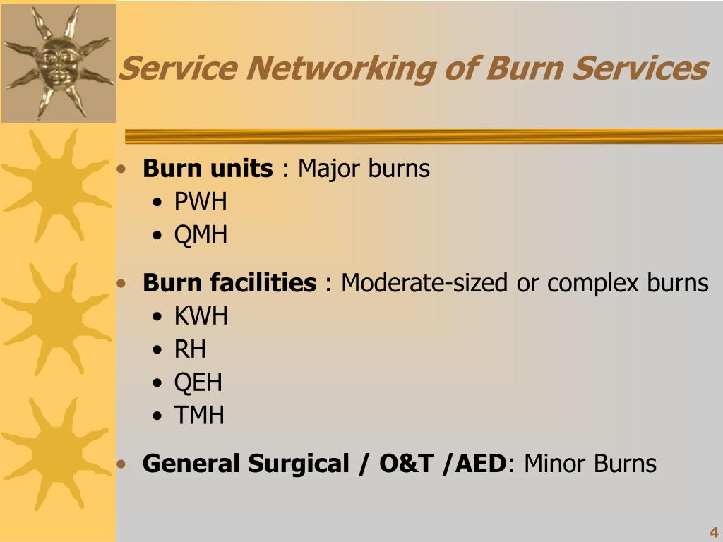 Service Networking of Burn Services