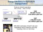 energy efficiency in agriculture transportation