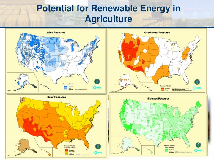 Potential for Renewable Energy in Agriculture