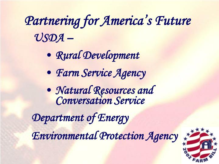 Partnering for America's Future