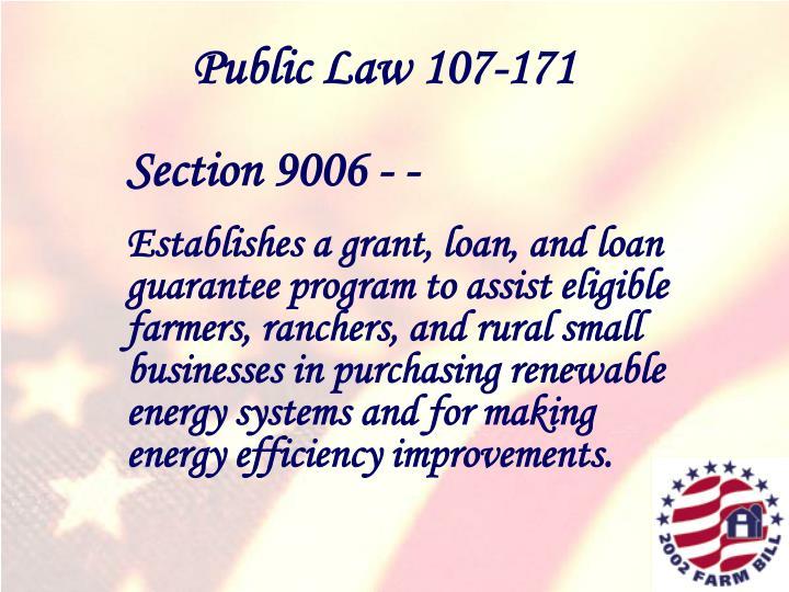 Public Law 107-171
