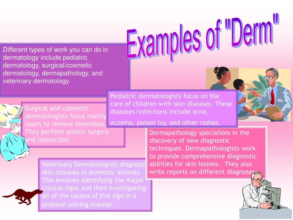 """Examples of """"Derm"""""""