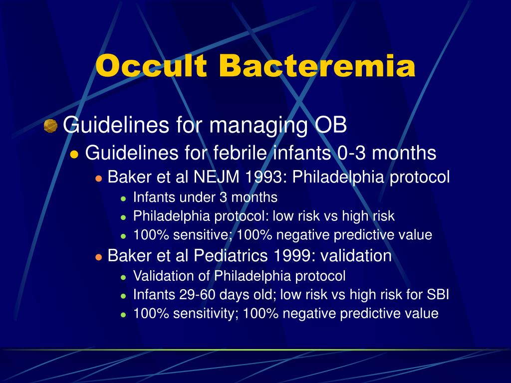 Occult Bacteremia