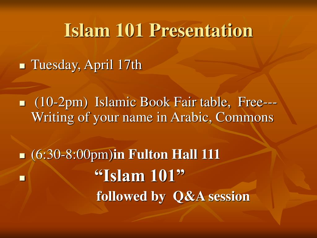 Islam 101 Presentation