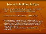 join us in building bridges