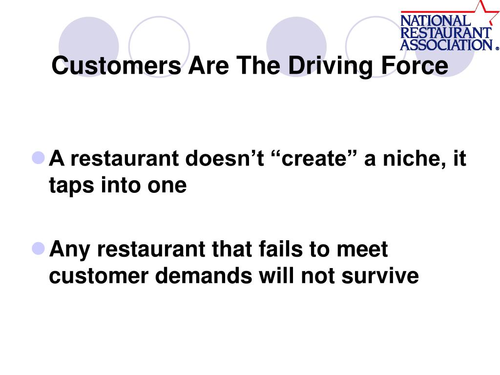 Customers Are The Driving Force