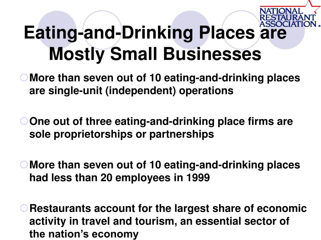 Eating-and-Drinking Places are Mostly Small Businesses