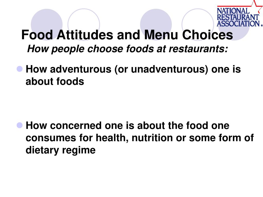 Food Attitudes and Menu Choices