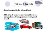takeout trends
