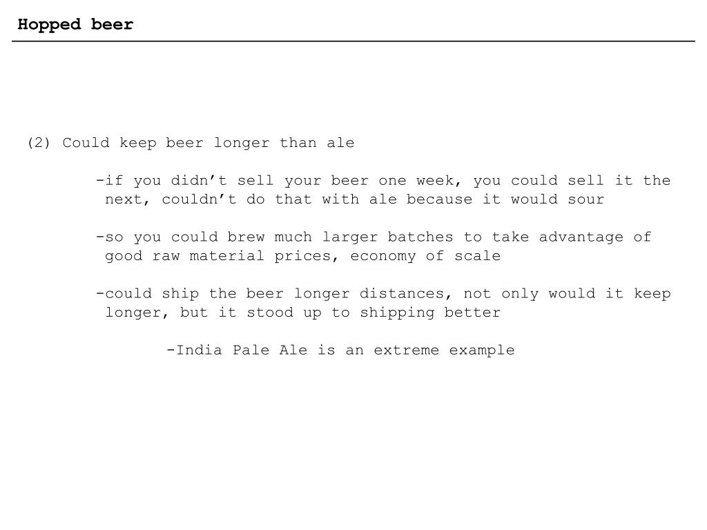 Hopped beer