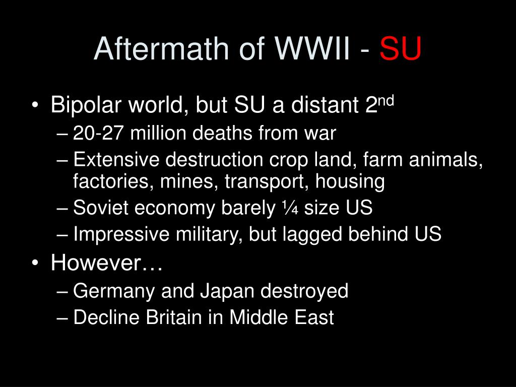 Aftermath of WWII -
