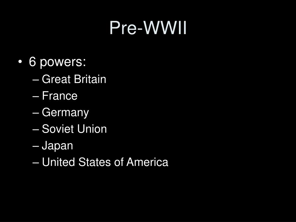Pre-WWII
