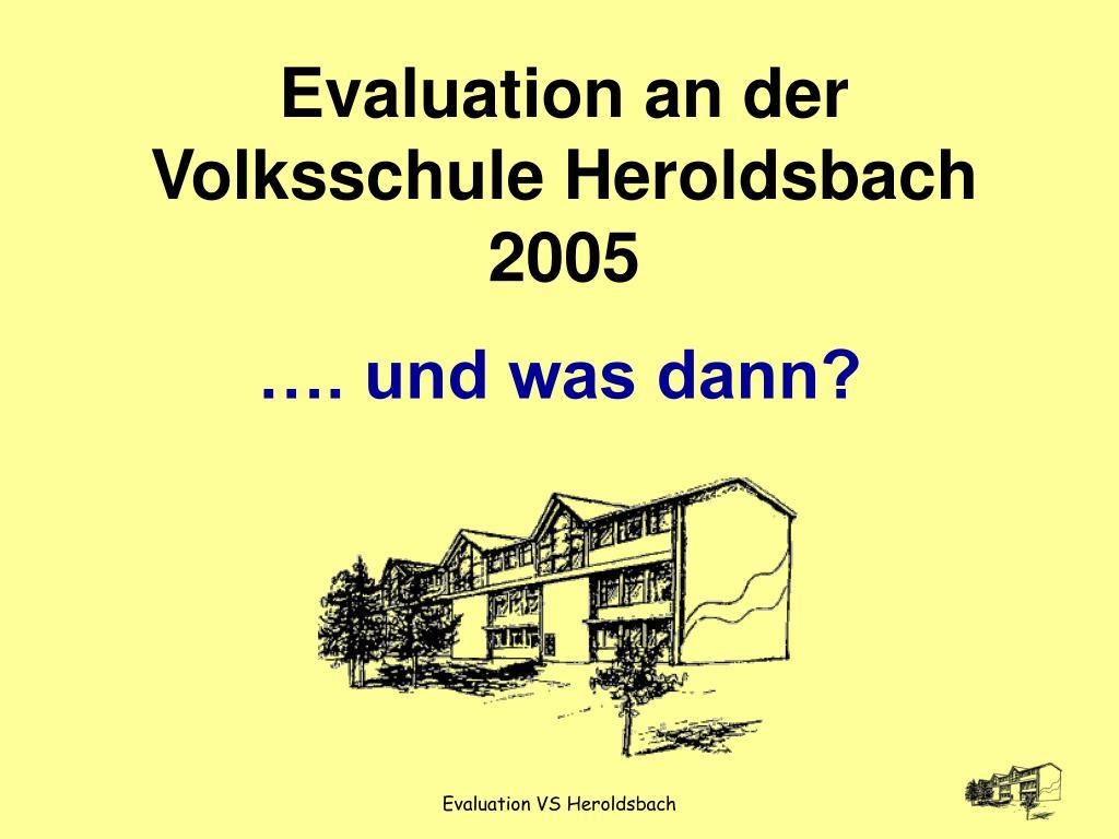 Evaluation an der Volksschule Heroldsbach