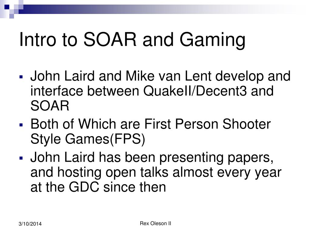 Intro to SOAR and Gaming
