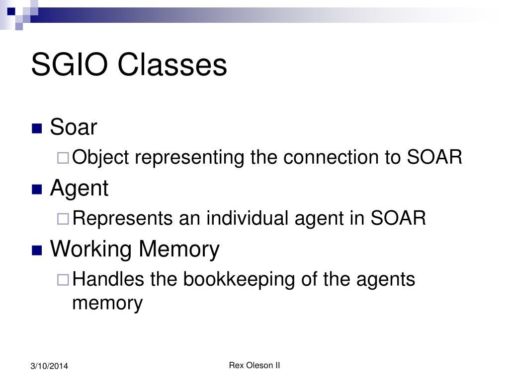 SGIO Classes
