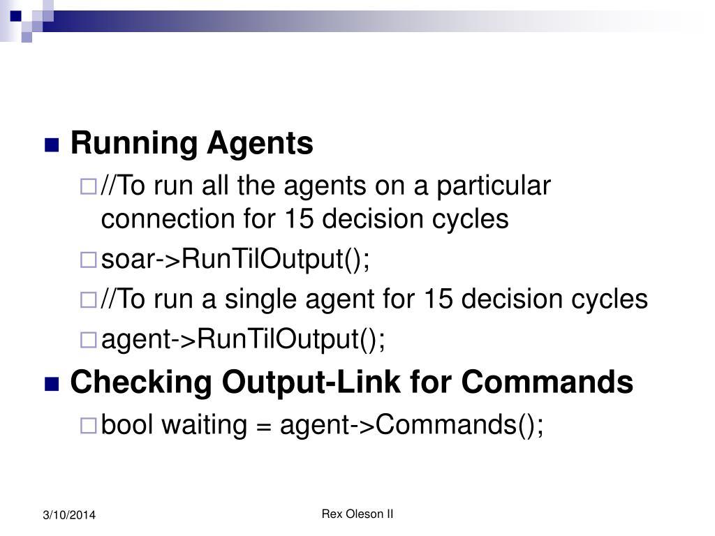 Running Agents