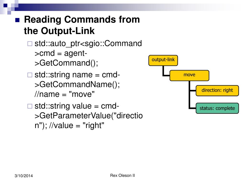 Reading Commands from the Output-Link