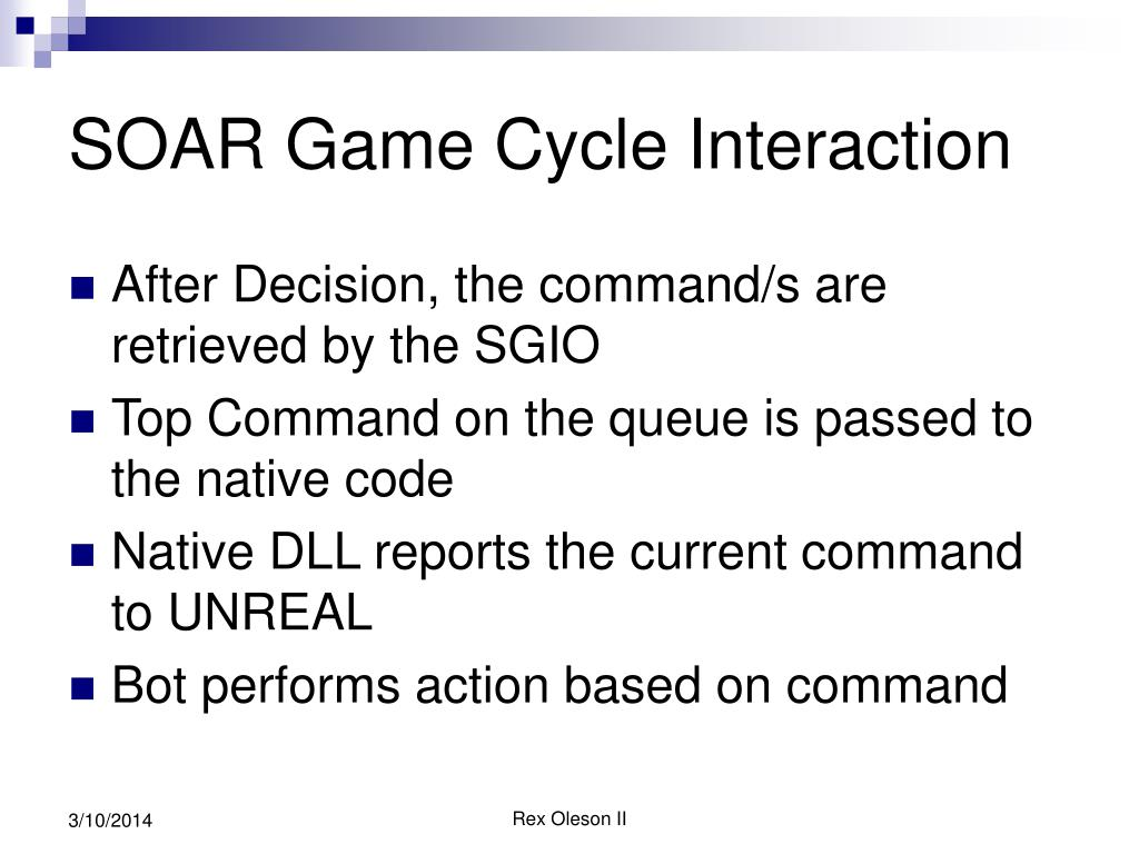 SOAR Game Cycle Interaction