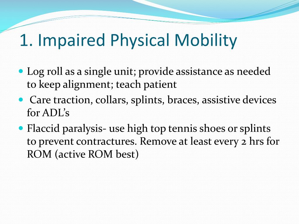 1. Impaired Physical Mobility
