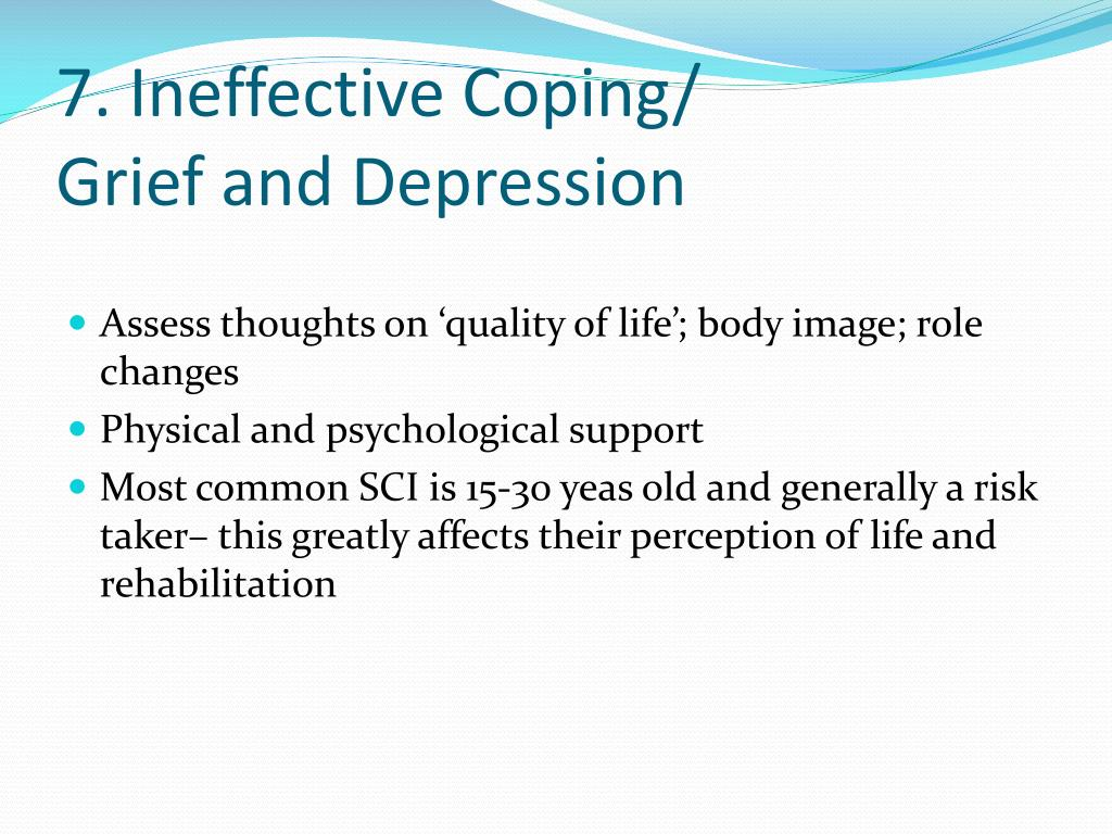 7. Ineffective Coping/